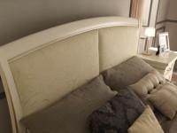Кровать с простеганным изголовьем без изножья Palazzo Ducale laccato