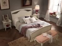 Кровать, изголовье с ковкой и изножьем Palazzo Ducale laccato