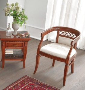 Кресло обивка на выбор Palazzo Ducale Ciliegio