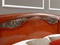 Кровать изголовье с ковкой и изножьем Palazzo Ducale ciliegio
