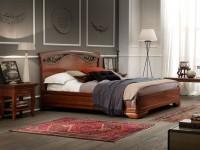 Кровать, изголовье с ковкой без изножья Palazzo Ducale ciliegio