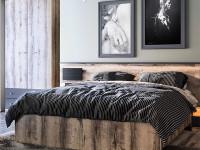 Кровать с деревянным изголовьем Jagger