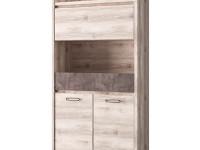 Шкаф для книг 3-х дверный + 1 ящик Jazz