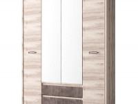 Шкаф 4-х дверный + 2 ящика Jazz