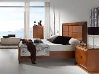Кровать с деревянным изголовьем Mar