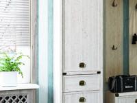 Шкаф 2-х дверный + 1 ящик узкий Magellan сосна винтаж