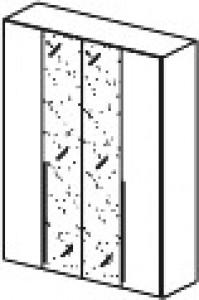 Шкаф GLI rovere moro 4ств (2 зеркала) Moderno