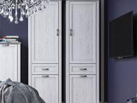 Шкаф 2-х дверный узкий + 1 ящик Monako