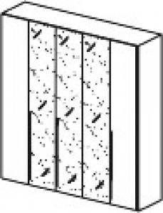 Арт. 1017AI Шкаф 5-ти дверный, 3 зеркала