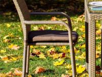 Плетеный стул с подлокотниками Rome
