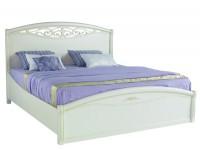 Кровать с резной вставкой и изножьем  San Remo Bianco