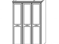 Шкаф 3дв с декором San Remo Bianco