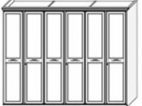 Шкаф 6дв с декором San Remo Bianco
