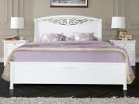 Кровать с резной вставкой без изножья  San Remo Bianco