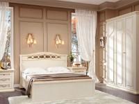 Спальня Сильвия Белый Ясень