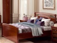 Кровать с металлической вставкой и изножьем Сильвия Орех