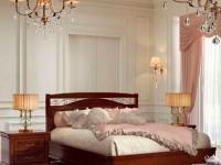 Кровать с металлической вставкой без изножья Сильвия Орех