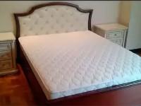Кровать с мягким изголовьем без изножья Сильвия Орех