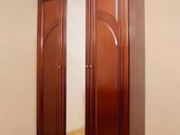 Шкаф 3-х дверный с зеркалом Сильвия Орех