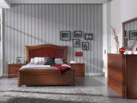 Кровать Valencia Flores вишня (изголовье с орнаментом)