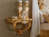 Консоль прикроватная отделка золотом детали серебром Verdi-Vivaldi-Belini
