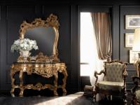 Консоль + зеркало в золоте WINDZOR