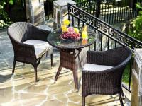 Комплект плетеной мебели Warsaw темно-коричневый