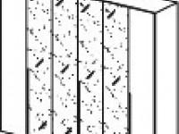 Арт. 1017AL Шкаф 6-ти дверный, 4 зеркала