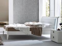 Арт. 110GXD Кровать Prisma (белый лак) 160*195