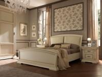 Кровать с простеганным изголовьем и изножьем Palazzo Ducale laccato