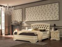 Кровать с резным изголовьем без изножья Palazzo Ducale laccato