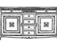 Буфет 2-х дверный с ящиками Palazzo Ducale
