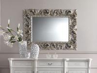 Зеркало резное (отделка сусальным серебром) Prestige Laccato