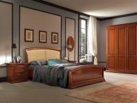 Кровать с простеганным изголовьем и изножьем Palazzo Ducale Ciliegio