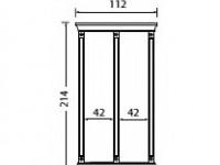 Комплект карнизов для стеновой панели 40+40 PALAZZO DUCALE Ciliegio