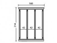 Комплект карнизов для стеновой панели 40+40+40 PALAZZO DUCALE Laccato