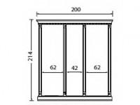 Комплект карнизов для стеновой панели 60+40+60 PALAZZO DUCALE Laccato