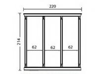 Комплект карнизов для стеновой панели 60+60+60 PALAZZO DUCALE Laccato