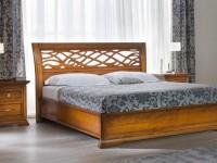 BO22180 Кровать с резным изголовьем без изножья Bohemia