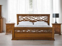 BO20120 Кровать с резным изголовьем Bohemia