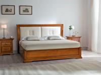 BO23120 Кровать с кожаным изголовьем без изножья Bohemia