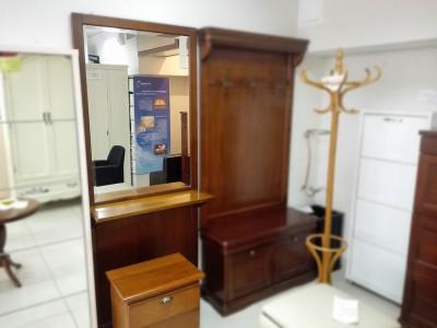 Стеновая панель с зеркалом и полкой Арт.9057+9101