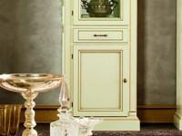 Витрина 1 дв с ящиком левая с зеркалом Venezia Bianco (Florence)