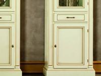 Витрина 1 дв с ящиком правая с зеркалом Venezia Bianco (Florence)