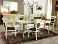 Стол овальный раскладной Venezia Bianco (Florence)