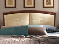 Кровать с простеганным изголовьем без изножья Palazzo Ducale Ciliegio