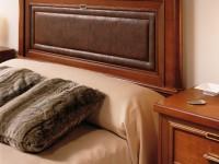 Кровать Marion изголовье кожа
