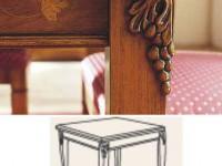 Стол квадратный раздвижной  Montalcino