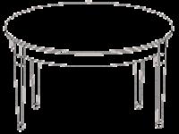 Cтол круглый раздвижной Phedra 1013V1/T