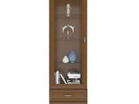 Шкаф с витриной Tiffany каштан
